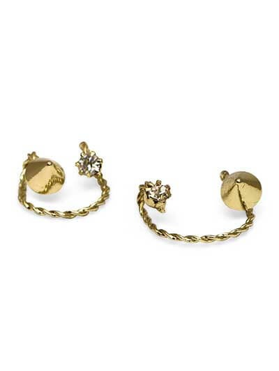 The Hatter Western Earrings Earcuffs