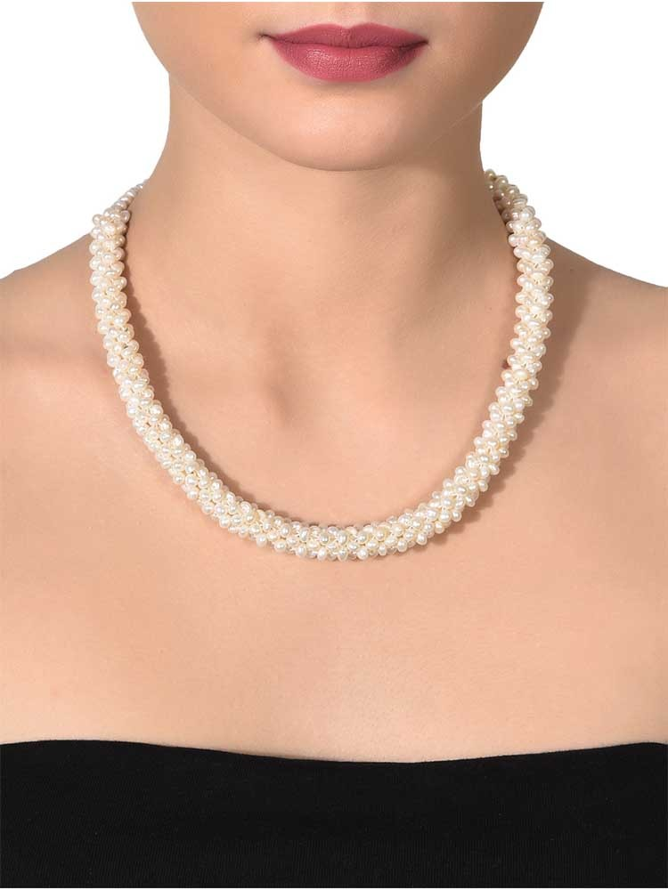 Pearl Branch Thick Necklace