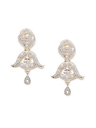 American Diamond Bell Earrings