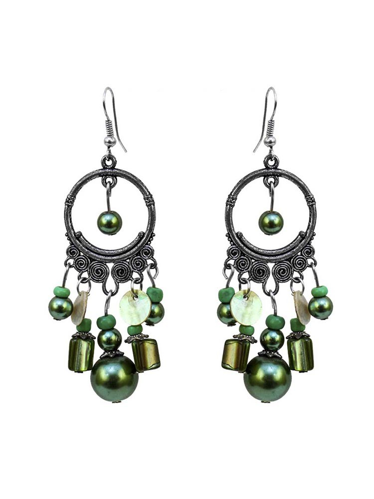 Emerald Green Chandelier Earrings