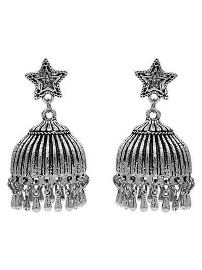 Chunky Ethnic Jhumki Tribal Jewellery Earrings