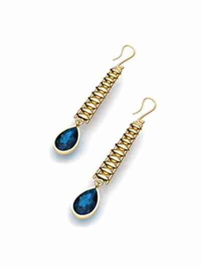 Blue Lagoon Gold Earrings