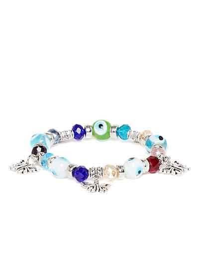 Multicolored Butterfly Charm Bracelet