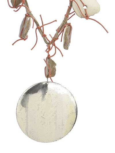 Silver Ethnic Brass Statement Necklace