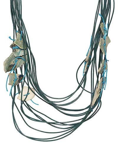 Shades of Blue Party wear Stone Layer Statement Necklace