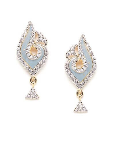 American Diamond Grey Short Earrings