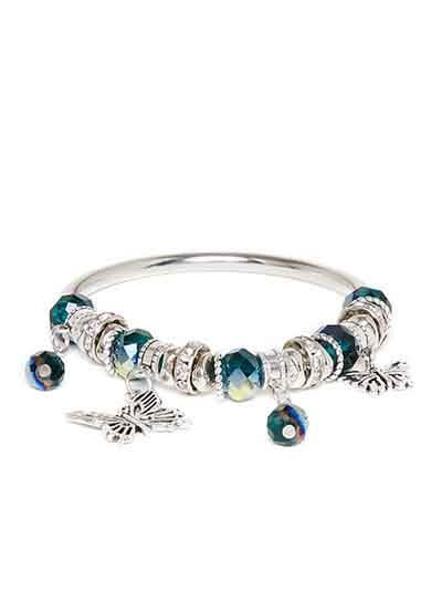 Blue and Silver Butterfly Charm Bracelet