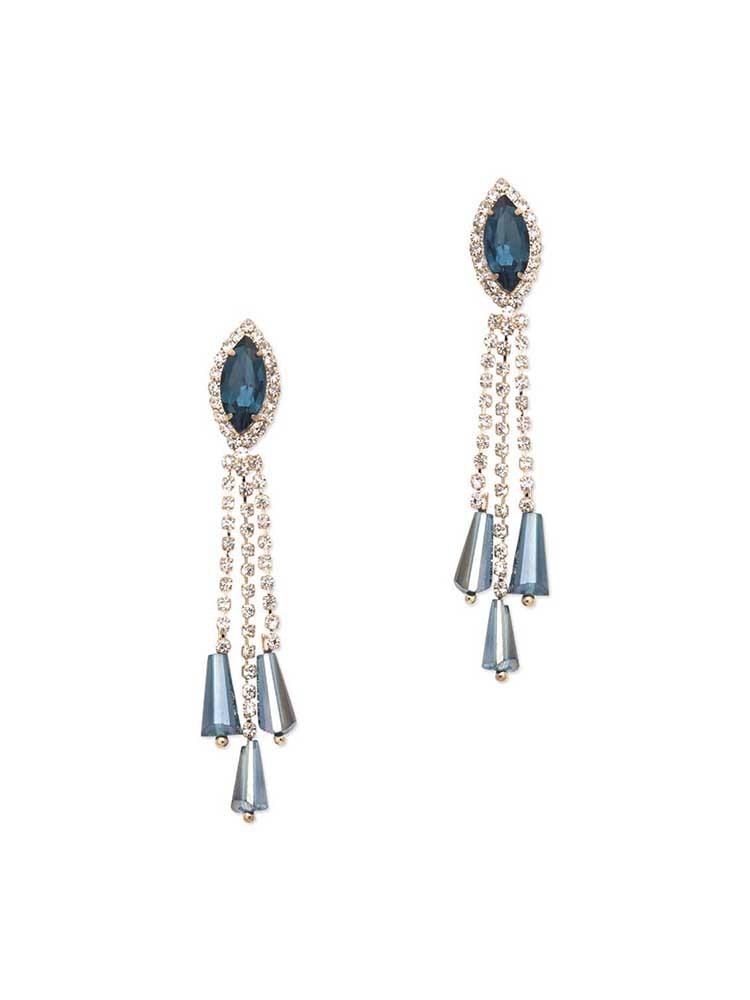 Shades of Blue Dangler Western Earrings
