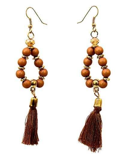 Beaded Tassel Western Earrings