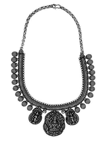 Chunky Pendant Tribal Style Fashion Necklace
