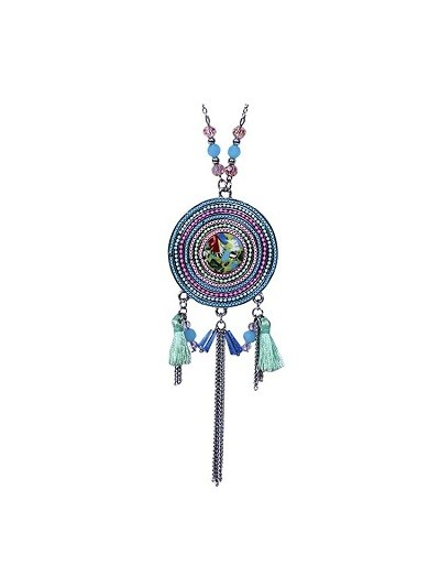 Round Multicolored Tassel Fashion Necklace