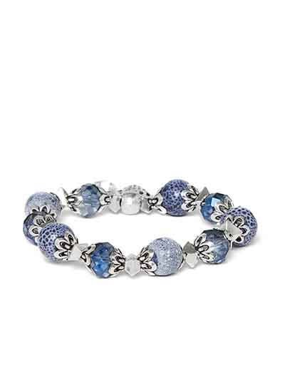 Blue and Silver Shell Charm Bracelet