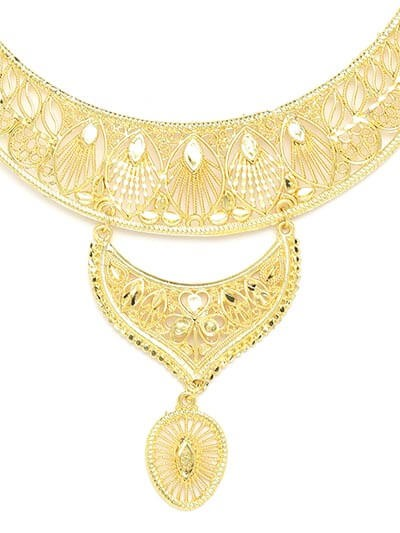 Classic Golden Necklace Set For Women
