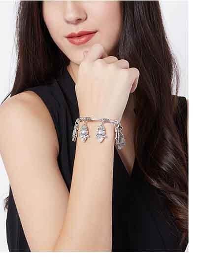 Hanging Metallic Owls Oxidized Tribal Jewellery Cuff Bracelet