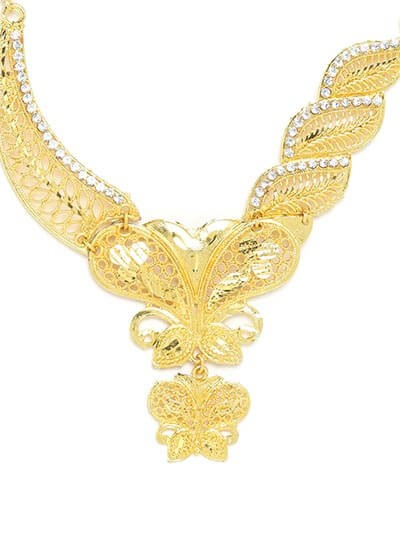 Golden Butterfly Necklace Set