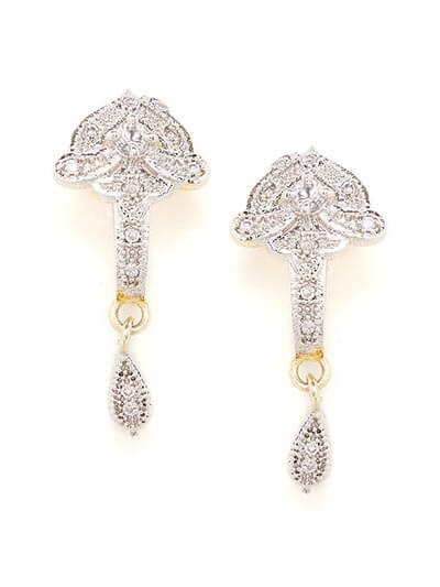 American Diamond Mushroom Shaped Earrings