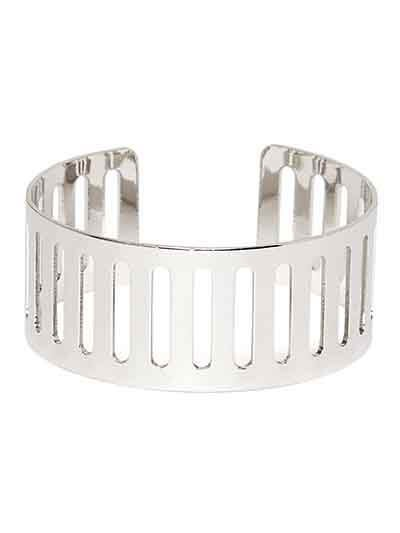 Contemporary Silver Cuff Bracelet