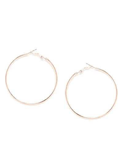 Big Rose Gold Hoop Earrings