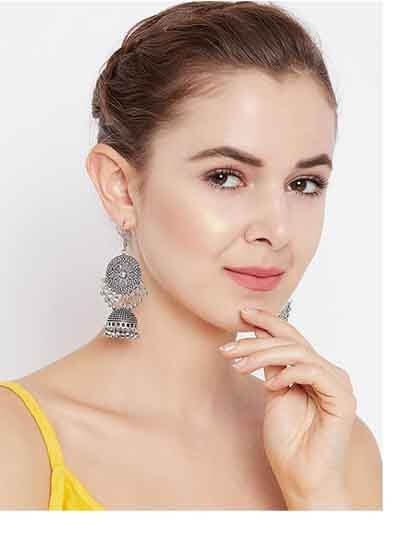 Dreamy Tribal Jhumka Earrings For Women