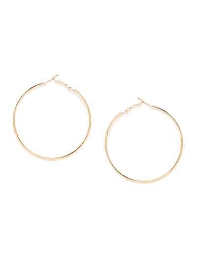 Big Golden Round Hoop Earrings