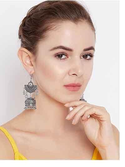 Designer Tribal Jewellery Embellished Jhumki Earrings