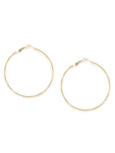 Golden Hoop Earring