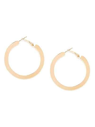 Golden Flat Hoop Earrings
