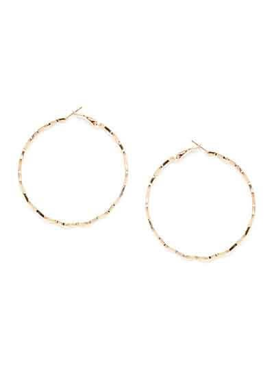 Golden Zig Zag Hoop Earrings