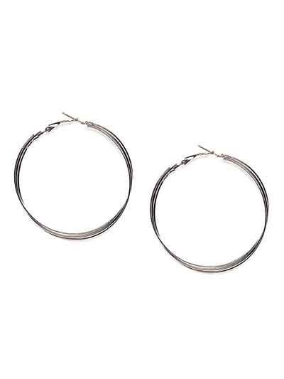Silver Multiple Hoop Earrings