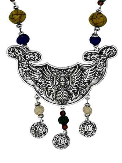 Colors of Joy Tribal Jewellery Statement Necklace