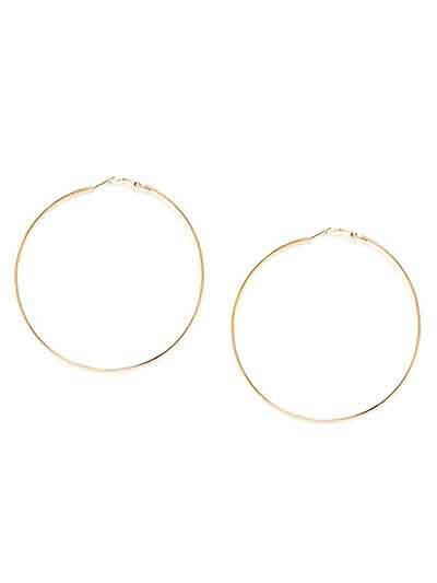 Golden Round Hoop Earrings