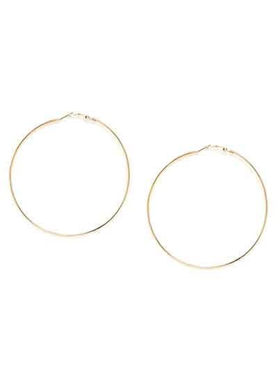 Golden Round Hoop Earrings