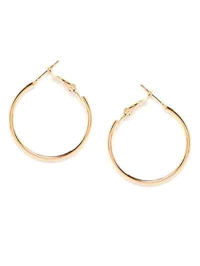 Classic Golden Small Hoop Earrings