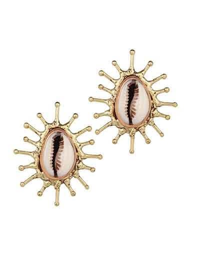 Kori Shell Semi Precious Handmade Jewellery Earrings