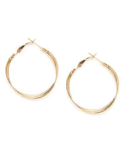 Golden Multiple Small Hoop Earrings