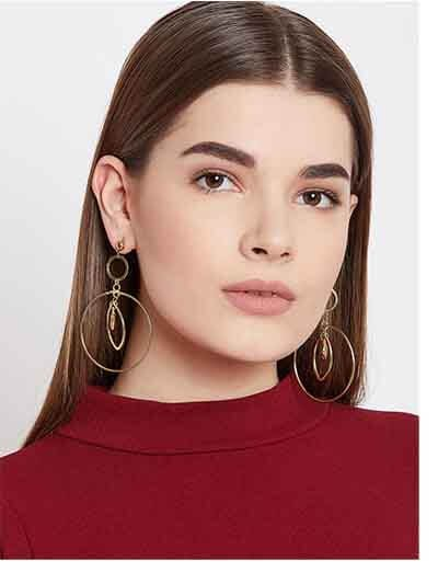 Classic Hoop Earrings in Gold Color