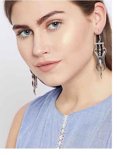 Tribal Jewellery Long Earrings