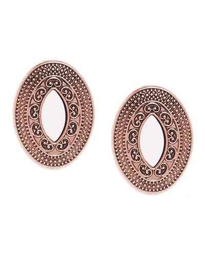 Rose Gold Mirror Stud Earrings