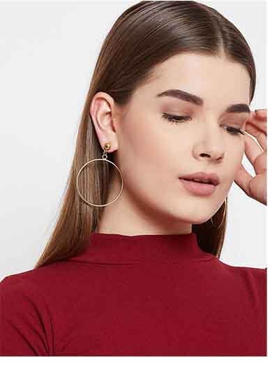 Hoop Earrings in Golden Color