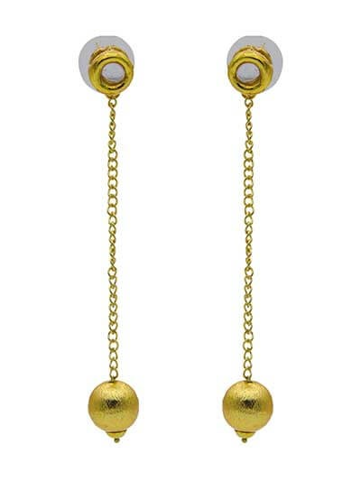 Isabella Nude Minimal Gold Plated Party Wear Earrings