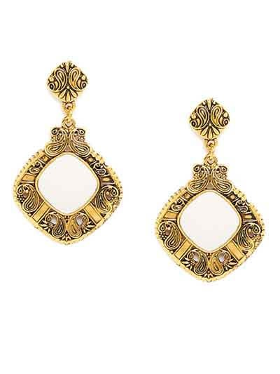 Golden Mirror Earrings