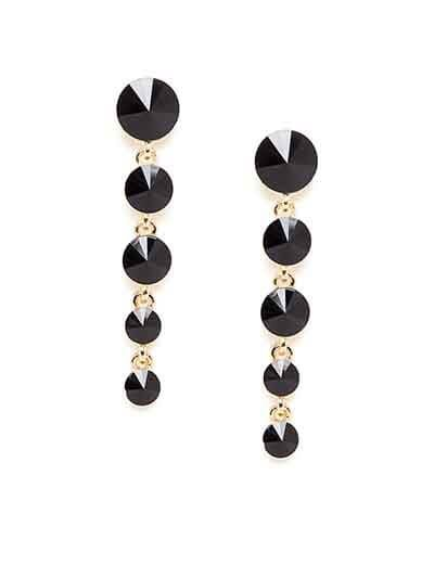 Black and Golden Stone Earrings