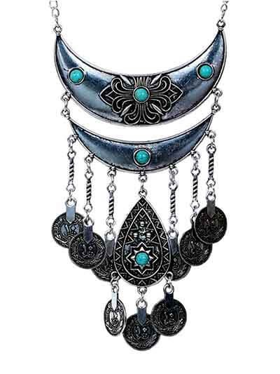 Multi Layer Ethnic Tassel Fashion Necklace