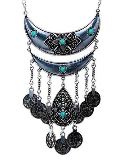 Multi Layer Ethnic Tassel Fashion Necklace