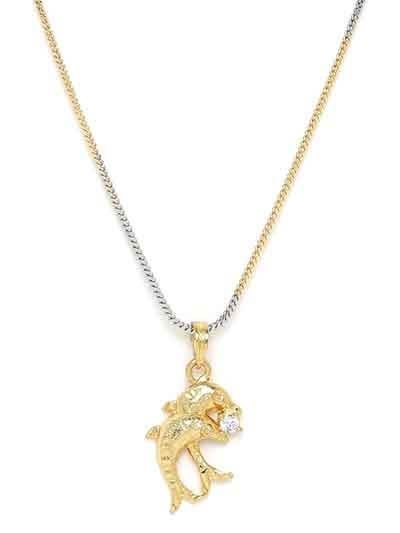 American Diamond Necklace with Fish Pendant