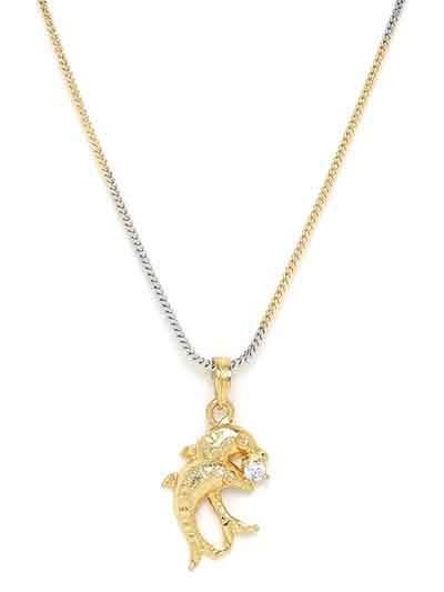 American Diamond Necklace with Fish Pendant
