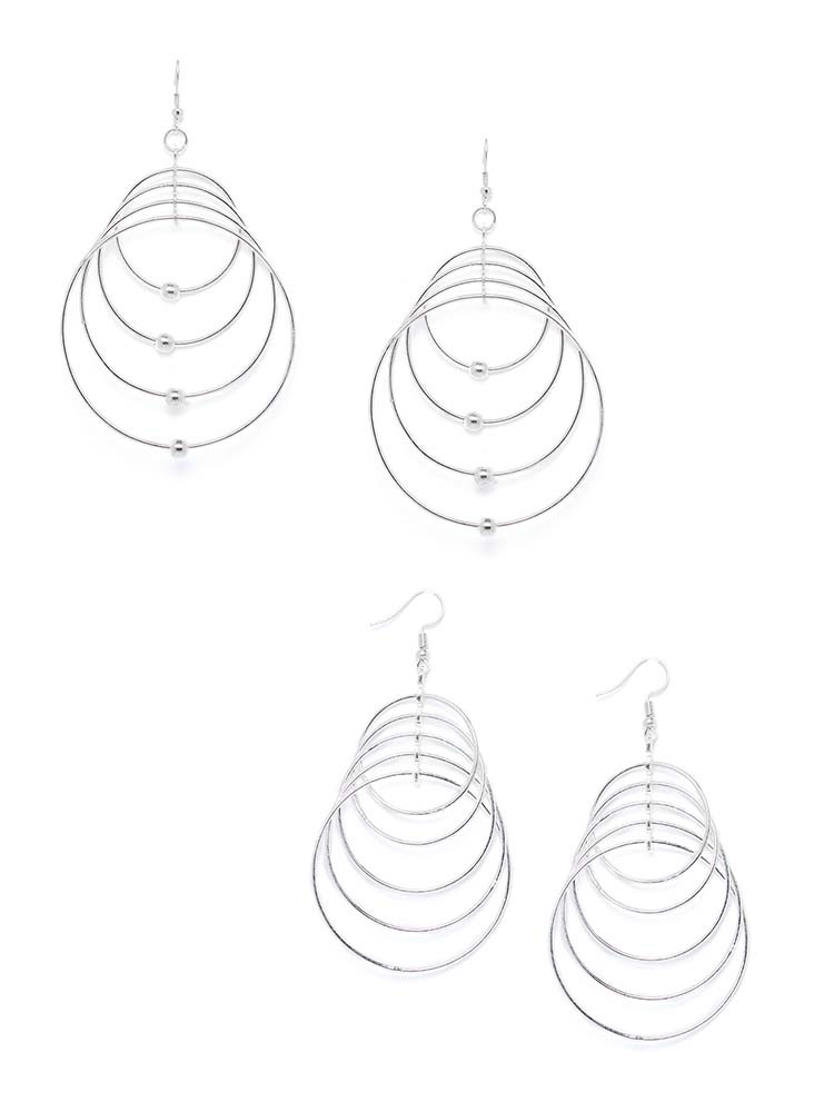 Multi-Layer Circular Hoop Earrings Combo