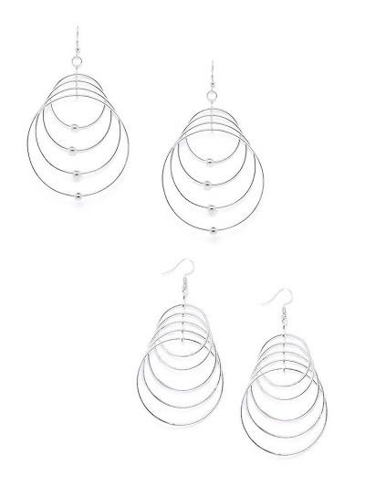 Multi-Layer Circular Hoop Earrings Combo