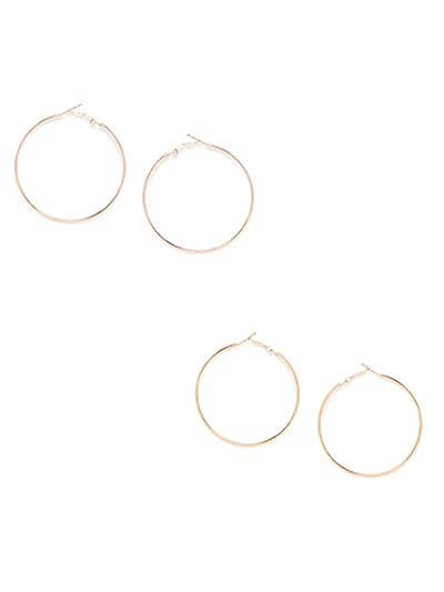 Combo of Two Golden Hoop Earrings