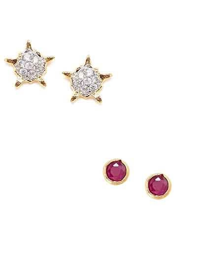 Combo of Two America Diamond Stud Earrings